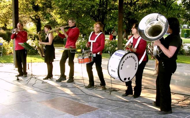 Mini-fanfare `Cramique` le 26 juin 2010 à Woluwe-Saint-Lambert
